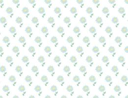 Floral pattern. Pretty flowers on white background vector