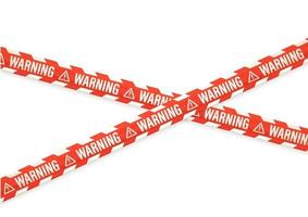 Warning notice with tapes isolated on white vector