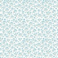 lindo patrón floral azul vector