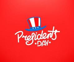 Presidents day greeting card. Vector concept