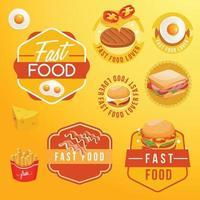 Fast Food tasty Design template set vector