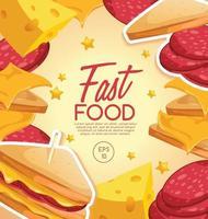 Fast Food tasty Design template vector
