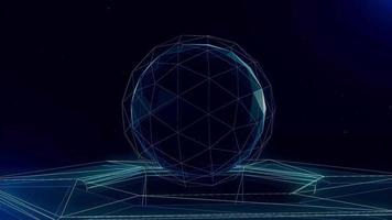 Abstract Geometric Sphere Shape Lines a Futuristic Technology Concept