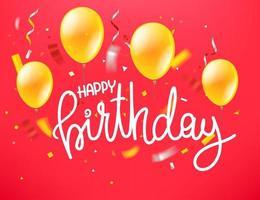 Happy birthday. Vector greeting card