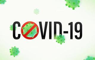 No covid concept vector