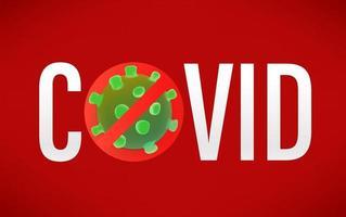 No Covid vector banner