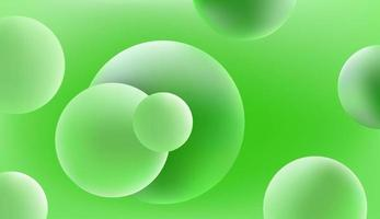 Abstract green vector background with 3d balls
