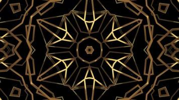 Abstract Gold Kaleidoscope Texture Line Spinning