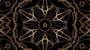 Ligne de texture abstraite kaléidoscope or filature