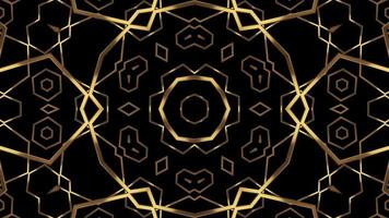 Abstract Golden Texture  Pattern on A Black Background video