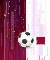 Soccer ball and confetti on abstract background vector