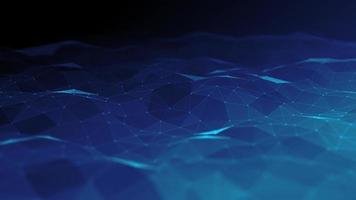 bucle de fondo de tecnología fx digital de plexo abstracto video