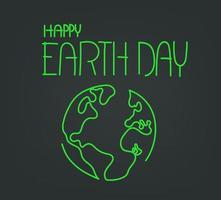 Happy Earth Day vector illustration. Linear vector illustration