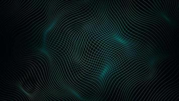 abstrato verde ondulado linhas fx fundo loop