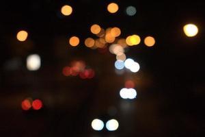 City night light bokeh abstract photo
