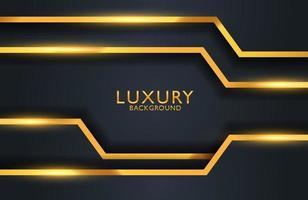 Luxury elegant background with gold geometric shape element vector