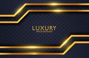 Luxury elegant background with overlap shapes composition on metal surface. Business presentation layout vector