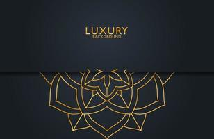 Abstract black geometric luxury background vector