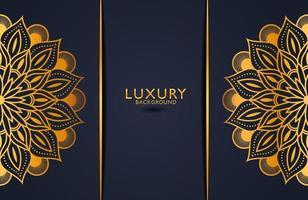 Fondo adornado de mandala de oro de lujo para invitación de boda, portada de libro. fondo islámico arabesco