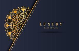 Fondo adornado de mandala de oro de lujo para invitación de boda, portada de libro. fondo islámico arabesco vector
