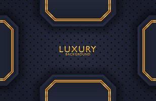 Fondo de metal dorado de lujo geométrico. elemento de diseño gráfico para invitación, portada, fondo. decoración elegante vector