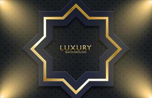 Luxury gold metal geometric background. Graphic design element for invitation, cover, background. vector
