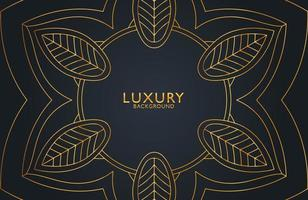 Abstract black geometric luxury background. Vector template for invitation, cover, background. Elegant decoration