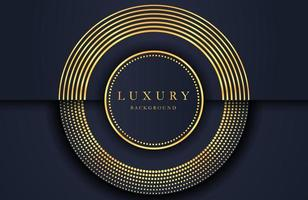 Luxury elegant background with golden element on dark black surface. Business presentation layout vector