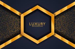 Geometric luxury gold metal background. Graphic design element for invitation, cover, background. Elegant decoration vector