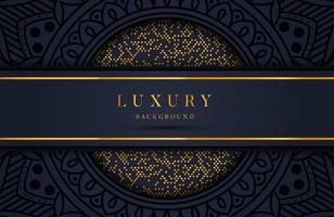 Luxury background with gold dots element and mandala. Template for wedding invitation, card, cover vector