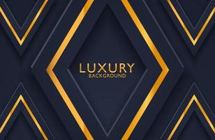 3d geometric luxury gold metal on dark background. Graphic design element for invitation, cover, background.