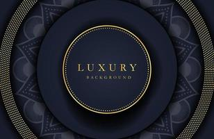 Luxury elegant background golden element on dark black surface. Business presentation layout vector