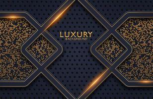 decoración realista de lujo 3d abstracto con textura con patrón de puntos dorados. Telón de fondo 3d, invitación, plantilla de diseño de portada. vector