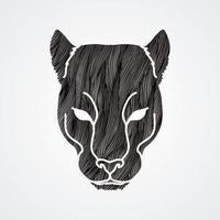 cara de cabeza de pantera vector