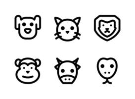 Simple Set of Animal Related Vector Line Icons. Contains Icons as Dog, Cat, Lion, Monkey and more.