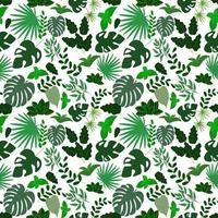 Seamless pattern from various leaves. Template for creating backgrounds, wallpapers, wrapping paper, clothes. vector
