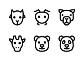 Simple Set of Animal Related Vector Line Icons. Contains Icons as Goat, Ant, Camel, Giraffe and more.