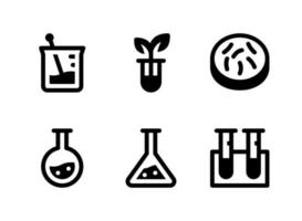 Simple Set of Laboratory Related Vector Solid Icons. Contains Icons as Germs, Chemistry, Test Tube, Botany Lab and more.