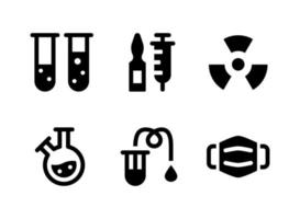 Simple Set of Laboratory Related Vector Line Icons. Contains Icons as Vaccine, Flask Tube, Chemical, Medical Mask and more.