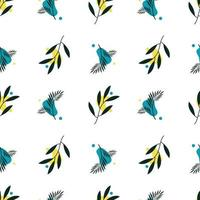 Botanical seamless, with abstract shape for print and textile, pattern template vector