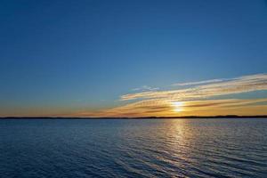 Golden hour on the ocean photo