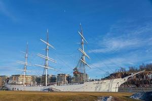 turku, finlandia, 23 de marzo de 2021 - barco cisne finlandés suomen joutsen foto