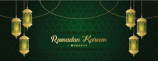 ramadan kareem banner background template vector
