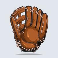 Baseball glove isolated on white background vector