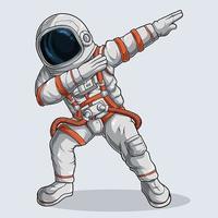 Funny Dabbing Astronaut vector