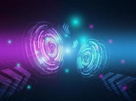 Abstract technology hi-tech data transfer communication background vector