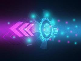 Abstract technology hi-tech data transfer communication vector