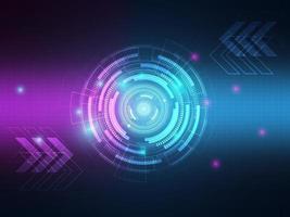 Abstract technology hi tech data transfer communication background vector