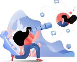 Customer Targeting flat illustration vector