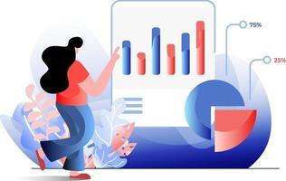 Statistic Analysis flat illustration vector